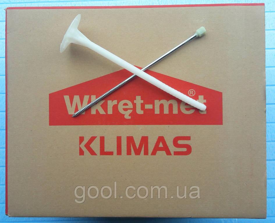 Дюбель 10х300мм Wkret-met LFM фасадный для теплоизоляции с металлическим стержнем и термоголовкой упаковка 100