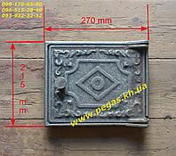 Дверка чугунная печная чугунное литье, барбекю, мангал, печи, котлы (200х250 мм), фото 1