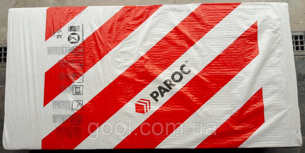 Вата фасадная базальтовая Paroc Linio 80 размер листа 1200х200х100 мм. плотность 70-80 кг/м3