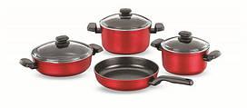 Набор кухонной посуды Ornella Rosa Alu 7 пр Korkmaz A1349