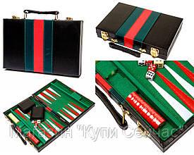 Оригинальные красивые нарды в кейсе из прессованной кожи (45х55 см) PX45