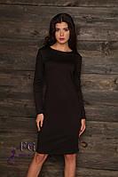 Платье женское длинный рукав черное 036, фото 1