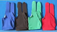 Перчатки бильярдные трехпалые разные цвета
