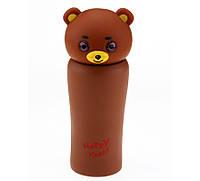 Термос Медвежонок коричневый