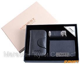 Подарочный набор Honest портмоне/визитница/зажигалка №3055