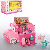 Игровой набор для девочки машина 2 в 1, автомобиль с аксессуарами, BT-2223EB