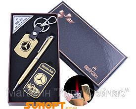 Подарочный набор брелок/ручка/зажигалка Mercedes-Benz (Турбо пламя) №ST-5642A