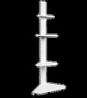 Торговий кутовий зовнішній металевий стелаж висотою 1600мм
