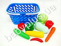 Корзинка для покупок пластиковая с овощами