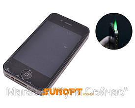 Зажигалка подарочная IPhone (Турбо пламя) №4107 Black