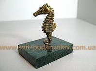 Сувенир бронзовая фигурка Морской конь