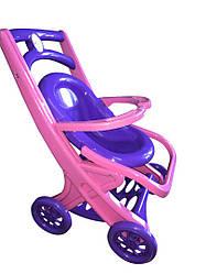 Коляска для куклы с шезлонгом Фиолетово-розовая (rv0056114)