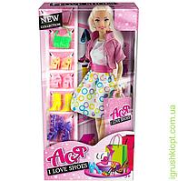 """Кукла Ася """"Я люблю обувь"""", блондинка, вариант 1, PS"""