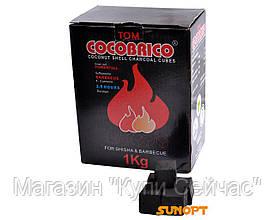 Уголь бамбуковый для кальяна (Индонезия, 1кг) CocoBRiko широкий