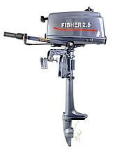 Мотор Fisher Фишер 2.5 2-х тактный управление на румпеле