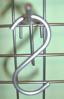 Крючок хромированный на сетку, фото 1