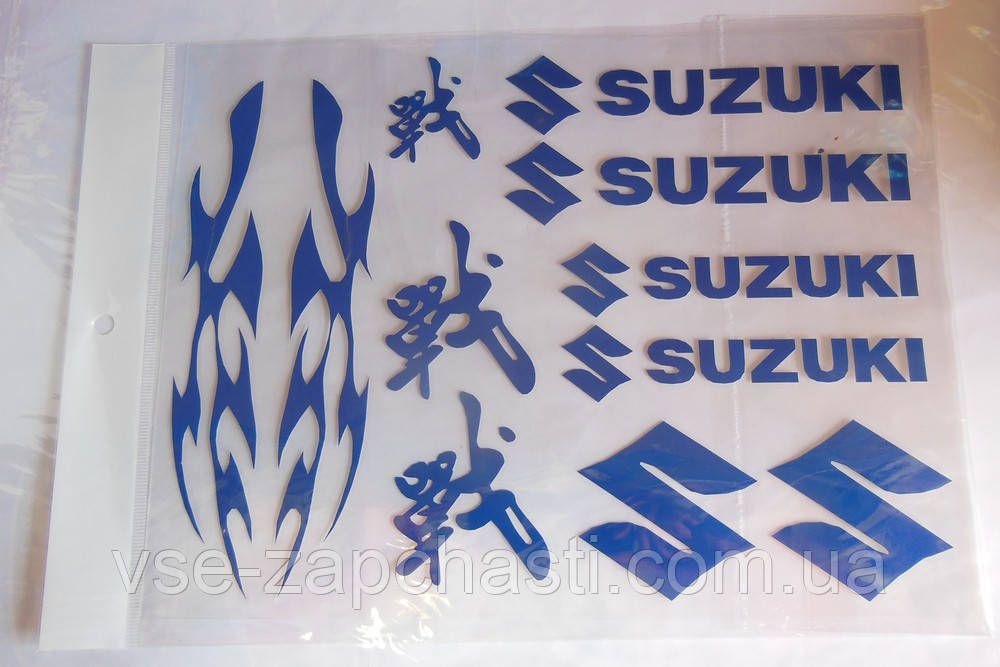 Наклейка Suzuki blue A4