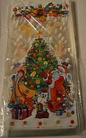 Пакеты новогодние для конфет 18х38 100 шт