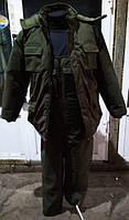 Костюм для рыбалки и охоты непромокаемый дышащий зимний , цвет-хаки.(60-62 размер).
