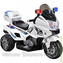 Мотоцикл, аккумулятор , р/у, 3 км в час, 6V-12W-4,5АН.музыка и свет