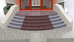 Лестница из Токовского гранита -  радиусная