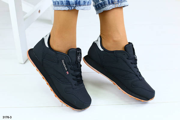 Женские кроссовки из натуральной кожи черные