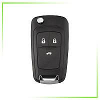 Выкидной корпус ключ на Опель (Opel) 3 кнопки HU100