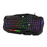 Ігрова клавіатура програмована з кольоровою підсвіткою мультимедійна HAVIT HV-KB417L, USB, PROGRAMABLE, фото 9