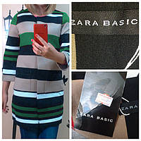 Кардиган Zara Неопрен 3380 зеленый  S-L