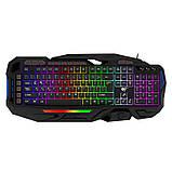 Ігрова клавіатура програмована з кольоровою підсвіткою мультимедійна HAVIT HV-KB417L, USB, PROGRAMABLE, фото 8