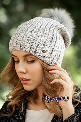 Женские шапки с помпоном