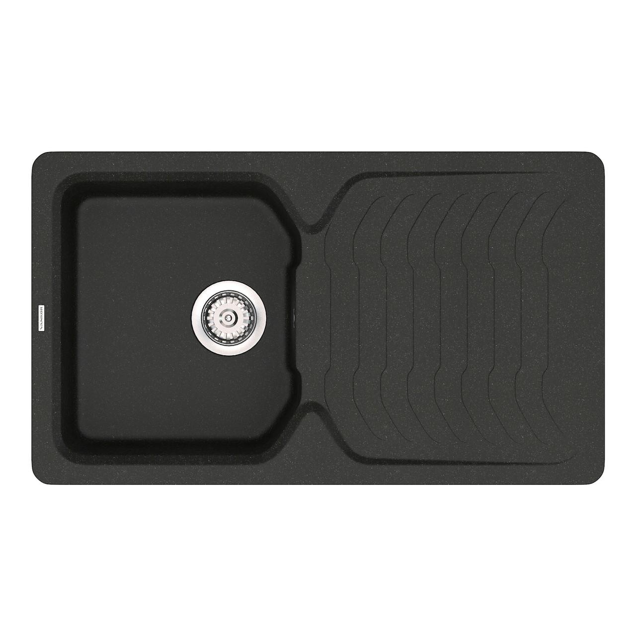 Гранитная мойка Vankor Sigma SMP 02.85 Black 85*50
