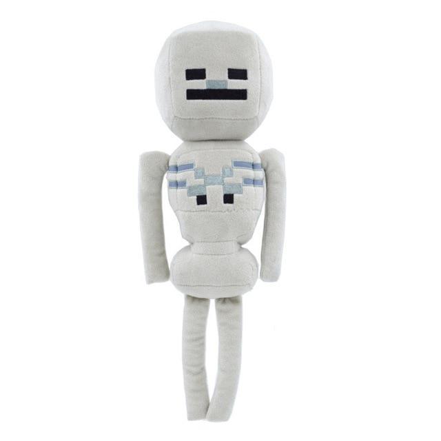 Симпатичная мягкая плюшевая игрушка Minecraft Скелетон 24 см