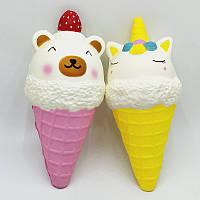 Копия Сквиши мороженое рожок единорог SQUISHY сквиши Ароматная игрушка антистресс сквиш мороженое улыбка