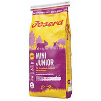 Josera MiniJunior 4,5 кг - беззерновой корм з качкою і лососем для цуценят з 3-х тижнів дрібних порід