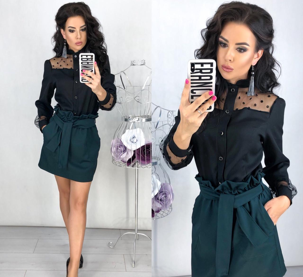 Женская юбка с большими карманами