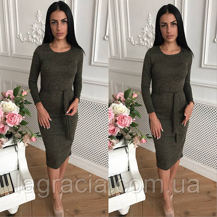 Осеннее женское модное платье, фото 2