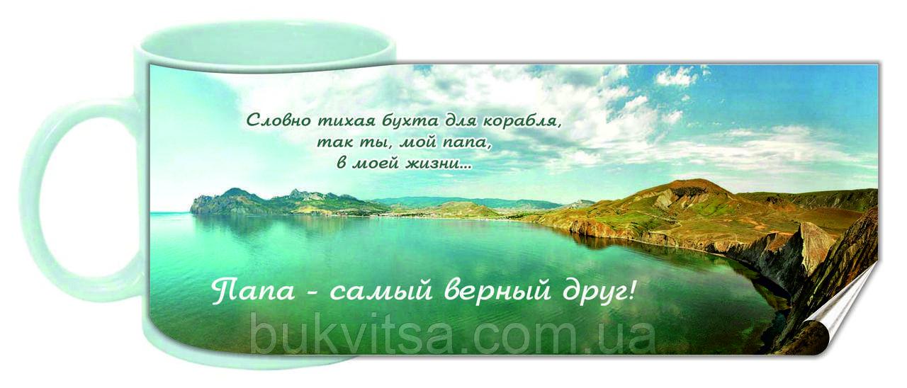 """Кружка """"Папа - самый верный друг"""" 013-р"""