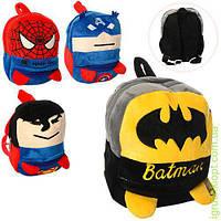 Рюкзак AV, разм.средн, 22-19-6см, застеж-молния, 1отд, 1наруж.карм, 5вид(супергерои), в кульке