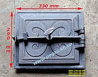 Дверка чугунная (240х275 мм) печи, грубу, барбекю, мангал, фото 1