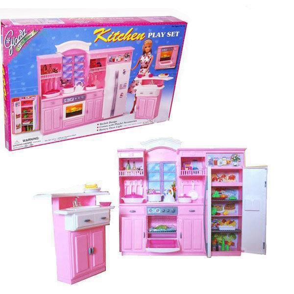 Дитячі меблі Gloria 24016 для ляльок Глорія велика модна кухня Барбі
