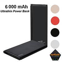 Ультратонкий Павербанк с дисплеем 10 мм 6000 mAh Ultrathin Power Bank Smart Slim