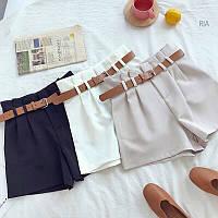 Женские стильные шорты с пояском (4 цвета), фото 1
