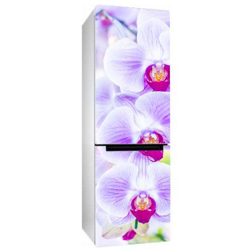 Виниловая наклейка на холодильник Орхидея 2 (пленка самоклеющаяся фотопечать)