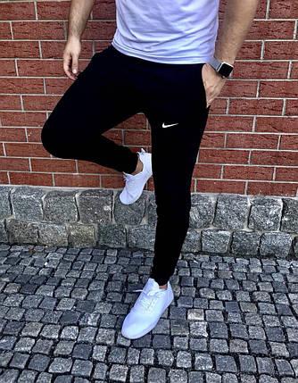 Спортивные мужские штаны Nike black топ реплика, фото 2