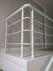 Алюминиевые перила белые, фото 2
