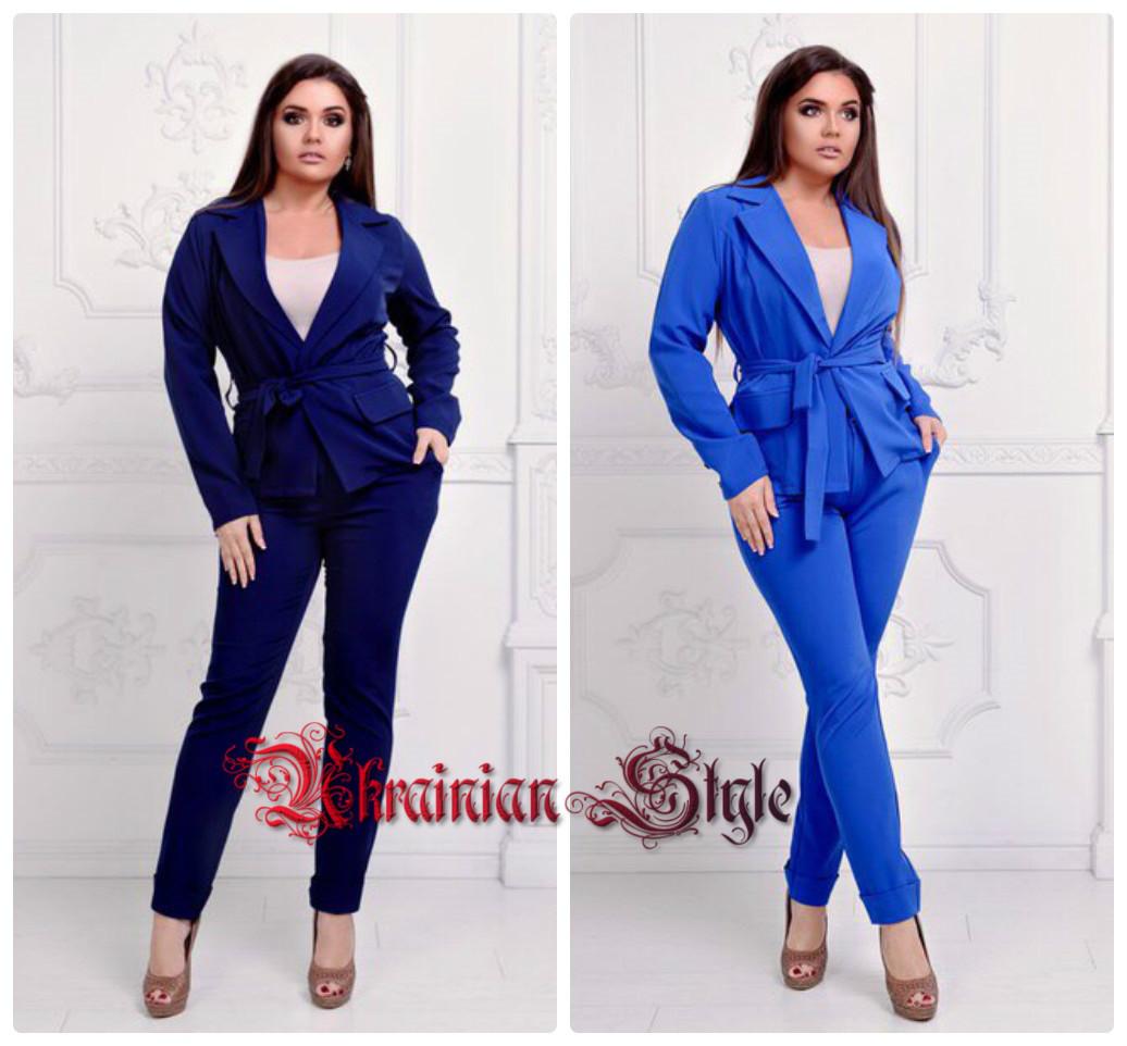 b112d303adb Женский деловой стильный костюм-двойка (брюки и пиджак). 6 цветов ...