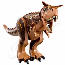 Динозавр Карнотавр аналог Лего большой  Длина 28 см. Конструктор динозавр