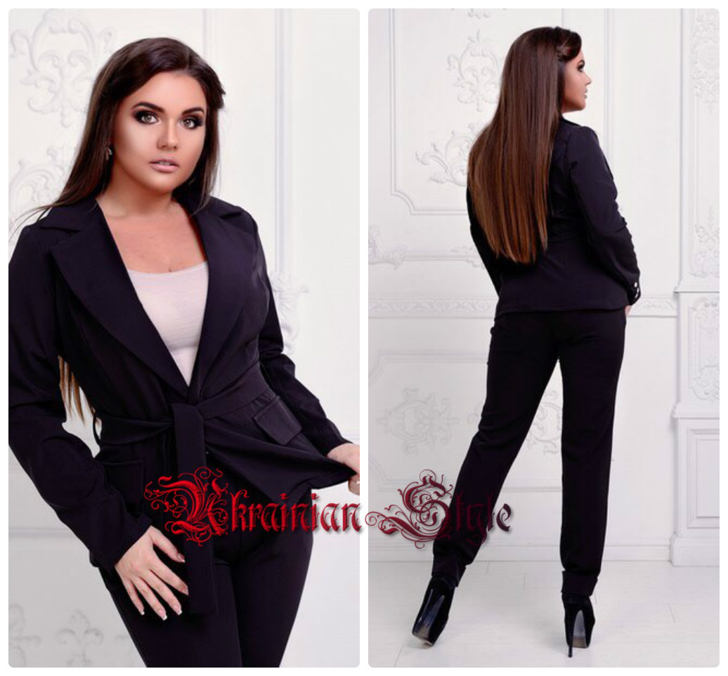 8085afaeba8 Женский деловой костюм-двойка (брюки и пиджак). Полубатал. 6 цветов ...