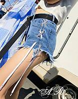 Женские короткие джинсовые шорты , фото 1